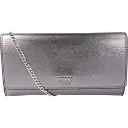 39b2555d6e0e9 Kopertówka Guess srebrna elegancka do ręki matowa