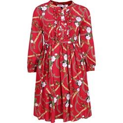 b4a1b41e31 Sukienka Liu•jo mini oversize owa casualowa czerwona z długim rękawem