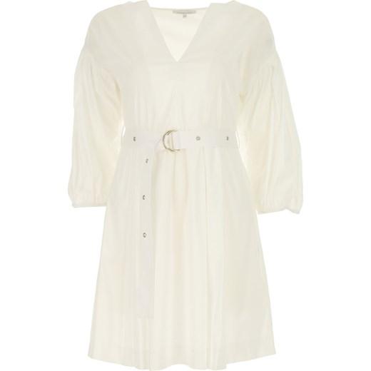 9ac8ecac2c Sukienka Patrizia Pepe bez wzorów biała oversize na bal midi na sylwestra  ...