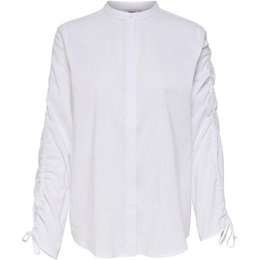 26dfdc29dd230 Only koszula damska biała z długimi rękawami w Domodi