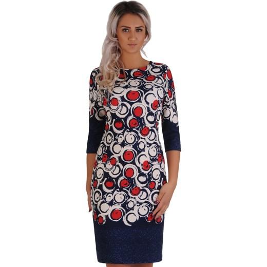 67087c9087 Sukienka Lamar z długim rękawem jesienna prosta w Domodi