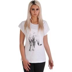 45848f306a Bluzka damska Lamar z okrągłym dekoltem biała z krótkim rękawem bawełniana  młodzieżowa