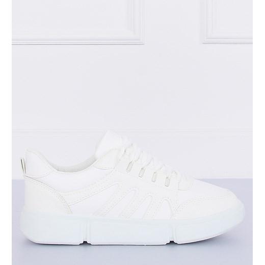 85% ZNIŻKI Buty sportowe damskie Adidas białe wiązane na