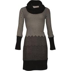 711e607732 Sukienka szara Smashed Lemon z długimi rękawami na co dzień casual midi