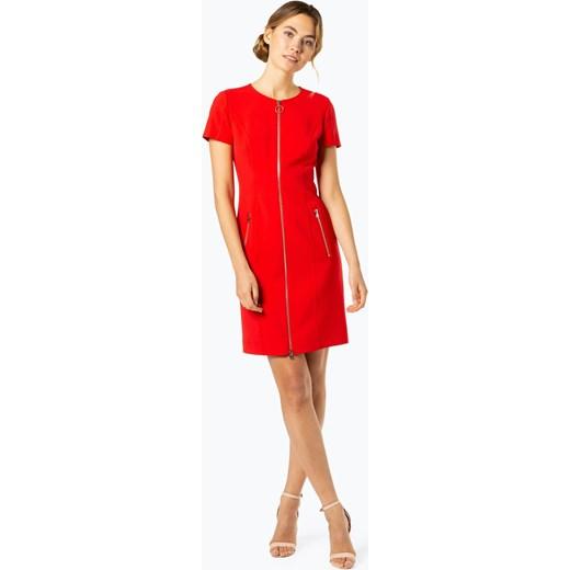 6515d02ac48e4 Sukienka czerwona Hugo Boss mini z krótkim rękawem gładka na ...