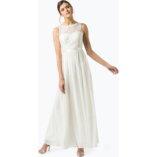 5b8f0af9d3 Sukienka Biała Luxuar Fashion Szyfonowa Rozkloszowana Na ślub