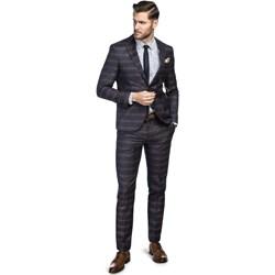 4f17a1a194741 Granatowe garnitury męskie, lato 2019 w Domodi