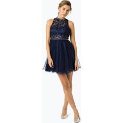 9a7087da67 Sukienka Suddenly Princess niebieska mini z okrągłym dekoltem balowe  koronkowa
