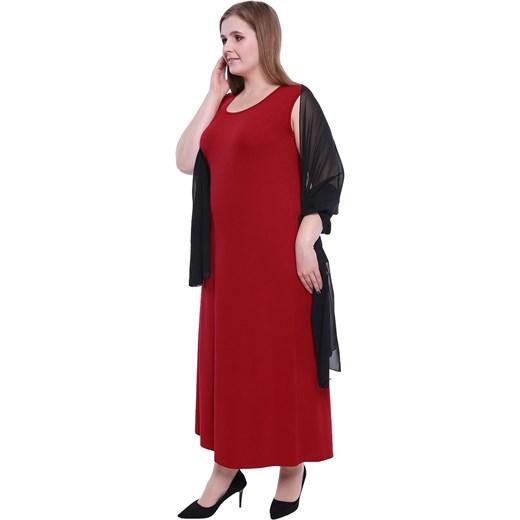 1684a006bd4 ... Sukienka dla puszystych bez rękawów na randkę z okrągłym dekoltem ...
