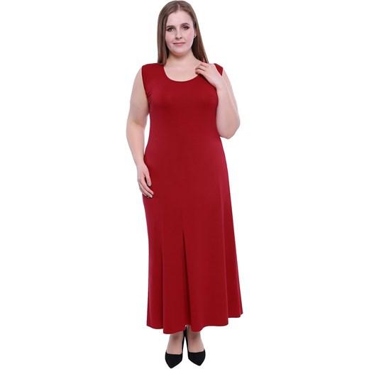 7ba4a0e19b1 Sukienka na randkę bez rękawów z elastanu dla puszystych maxi w Domodi