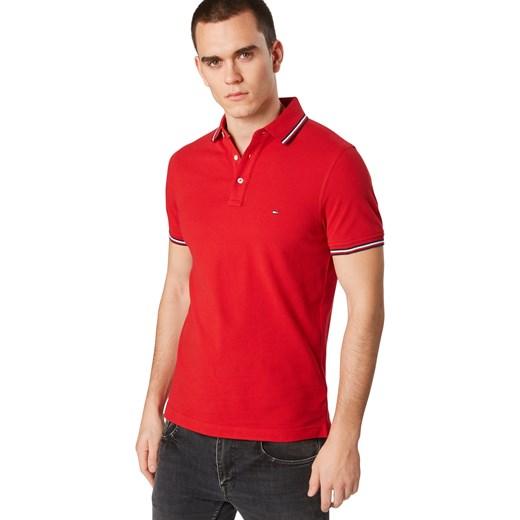 683323d838c0d ... T-shirt męski czerwony Tommy Hilfiger z krótkim rękawem ...