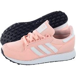 dc08e11252dc Buty sportowe damskie Adidas do biegania bez wzorów ze skóry ekologicznej  sznurowane