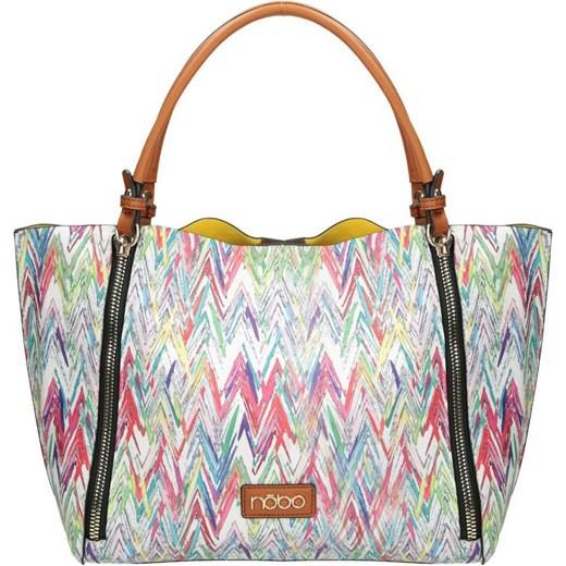 be19a36318653 Shopper bag Nobo matowa wielokolorowa do ręki w Domodi