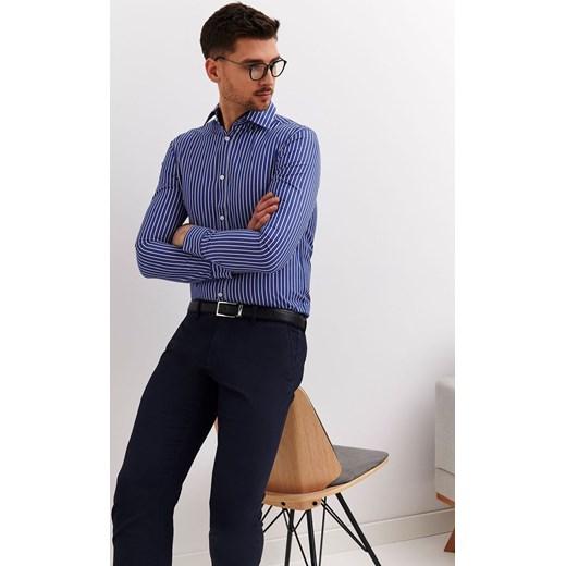 3d5053bd0265f2 Koszula męska Top Secret casual niebieska w Domodi