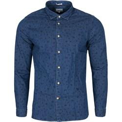 3d12bb49693f Koszula męska Pepe Jeans w abstrakcyjne wzory z klasycznym kołnierzykiem z  długim rękawem w stylu młodzieżowym