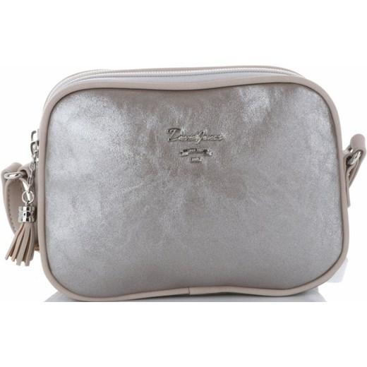 7b096e8d49409 ... David Jones listonoszka srebrna z frędzlami elegancka matowa  niemieszcząca a4 ...