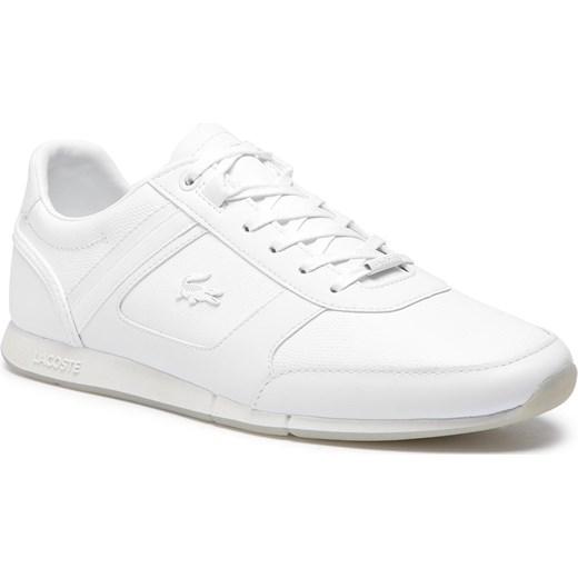 sprzedaż uk Najnowsza moda najnowszy Buty sportowe męskie białe Lacoste na wiosnę ze skóry ekologicznej  sznurowane młodzieżowe