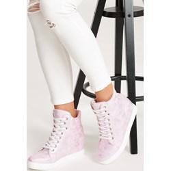 5e1af898536b Renee sneakersy damskie różowe ze skóry ekologicznej