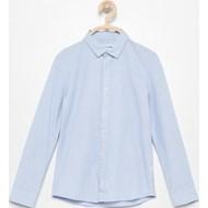 31e9015e7487ca Koszula chłopięca Reserved niebieska z bawełny