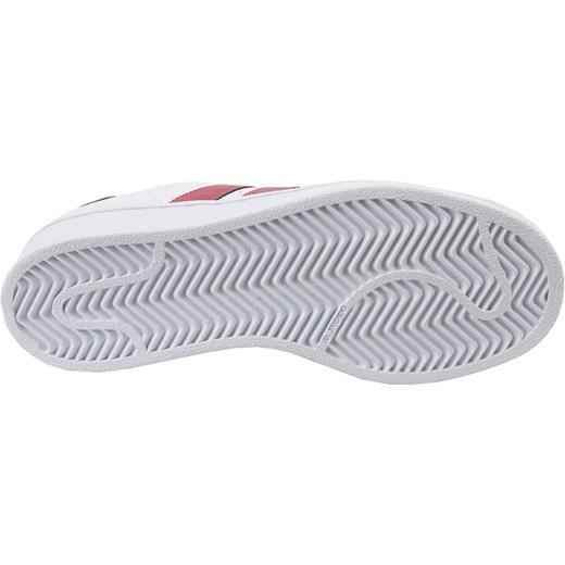 Trampki damskie Adidas superstar białe gładkie sznurowane