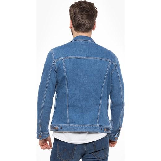 1d40f5e8cf897 ... Kurtka męska Wrangler niebieska z jeansu bez wzorów ...