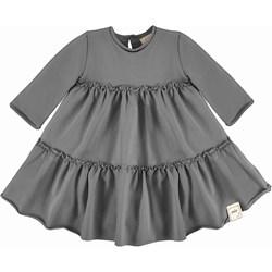 c152bcdf60 Sukienka dziewczęca szara Smile Kids z bawełny