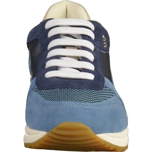 131d6c93bea41 ... Buty sportowe damskie Geox sneakersy w stylu młodzieżowym sznurowane na  platformie bez wzorów ...