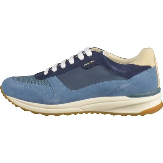 4d041c61500c8 ... Buty sportowe damskie Geox sneakersy w stylu młodzieżowym sznurowane  skórzane bez wzorów na platformie ...