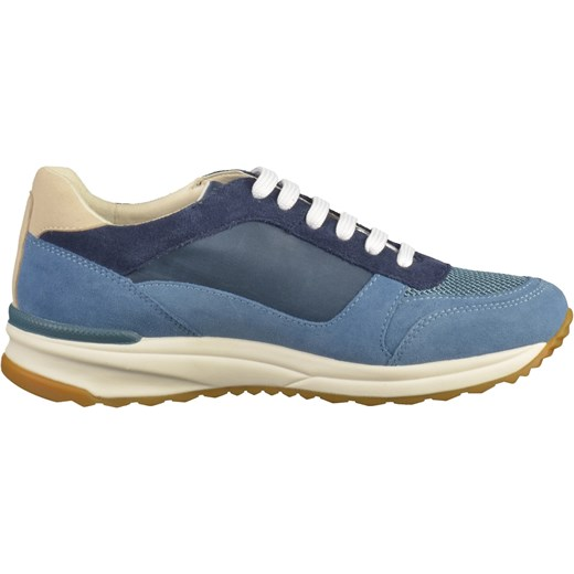 6ec5fcb3cbd7b ... Buty sportowe damskie Geox sneakersy w stylu młodzieżowym niebieskie  sznurowane ...