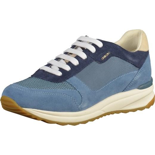 037feb6280b04 Buty sportowe damskie Geox sneakersy w stylu młodzieżowym skórzane w ...