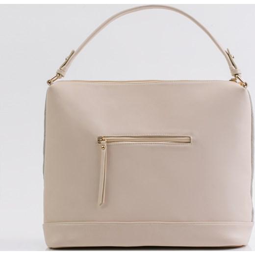 813bca7da029d ... Shopper bag Monnari beżowa bez dodatków do ręki ze skóry ekologicznej  ...