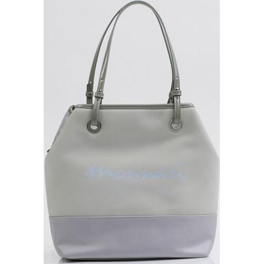 24be66ce89b40 Shopper bag Monnari szara na ramię ze skóry ekologicznej matowa ...