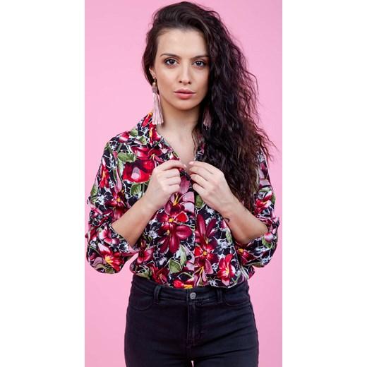 c8e6d916dd69b5 Koszula damska Zoio młodzieżowa w kwiaty z długimi rękawami w Domodi