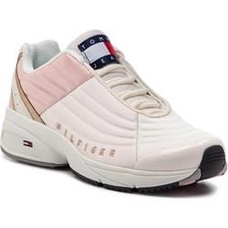 4e45039636e94 Sneakersy damskie Tommy Hilfiger na wiosnę wiązane sportowe na platformie
