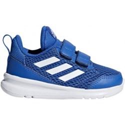 9f093ea5fd4aa Buty sportowe dziecięce Adidas w paski niebieskie na rzepy