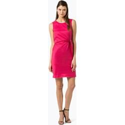 32e1f6842b Sukienka Esprit różowa na wiosnę bez rękawów na spotkanie biznesowe  ołówkowa z okrągłym dekoltem