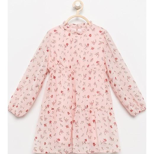 6486f7a5bb Reserved - Sukienka w kwiatki - Różowy Reserved 92 ...