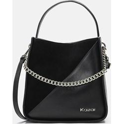 0287242cfe9b2 Shopper bag Kazar na ramię czarna skórzana średnia elegancka