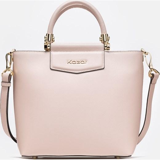 6040de0b79116 Shopper bag Kazar bez dodatków na ramię matowa duża elegancka w Domodi