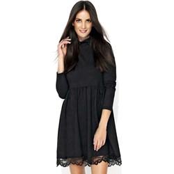 9f1b2f6e91 Sukienka Makadamia biznesowa casual z okrągłym dekoltem z długimi rękawami