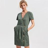 f7204d49e9738 Sukienka Reserved prosta z dekoltem v bawełniana