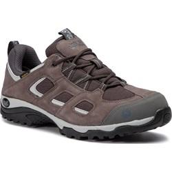 22d8cebf Brązowe buty trekkingowe męskie Jack Wolfskin na jesień sznurowane sportowe  ze skóry