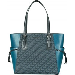 04d43ad7946a6 Shopper bag niebieska Michael Kors z nadrukiem bez dodatków