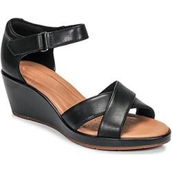 11f079a501c768 Sandały damskie Clarks eleganckie bez wzorów na średnim obcasie