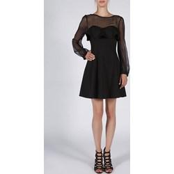 ad76346b0a Sukienka Soky Soka trapezowa z okrągłym dekoltem z długim rękawem