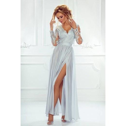 97ef59075a Emo Sukienki sukienka z długim rękawem maxi biała wiosenna na bal w ...