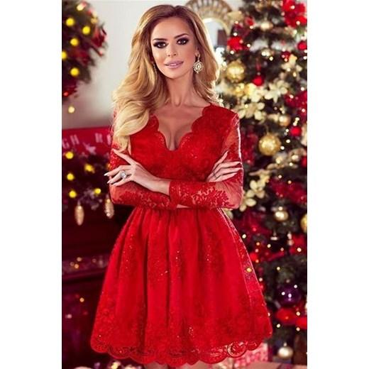 fb12b3d851 Sukienka Emo Sukienki z długim rękawem z koronką mini w Domodi