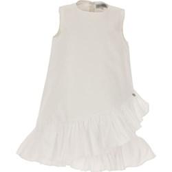 70c9fdac96 Sukienka dziewczęca biała Simonetta bez wzorów bawełniana