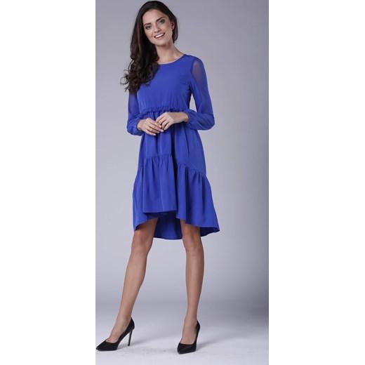 b56a59c647 ... Sukienka Pepe bez wzorów z długim rękawem elegancka luźna oversize owa  ...