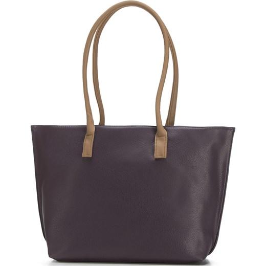 368121b32cc72 Wittchen shopper bag na ramię casualowa bez dodatków fioletowa ze ...